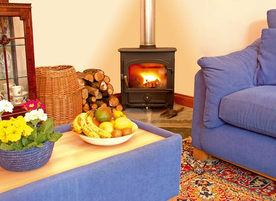 Cosy year round with wood burner