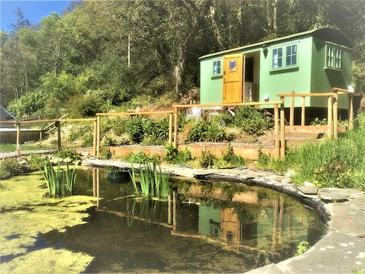 Pond in front of The Shepherds Hut