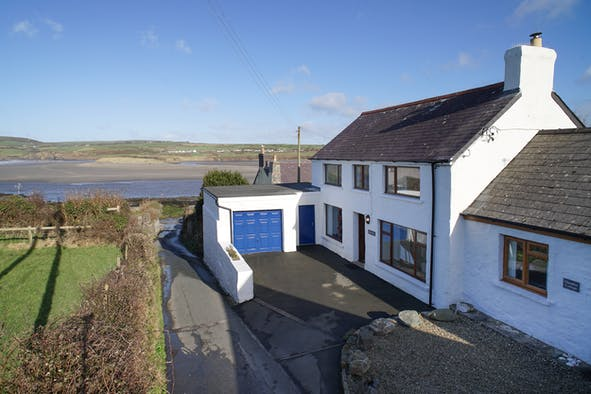 The outside of Glandwr with the estuary in the background