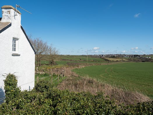 The side of Rock Cottage looking on to the fields
