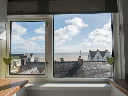 The view out of the kitchen window at The Bay Flat