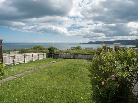 The view of the sea from Lucarne's garden