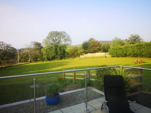View of the fields from the patio area