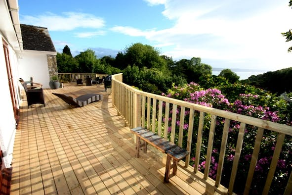Glendale: deck with bay views