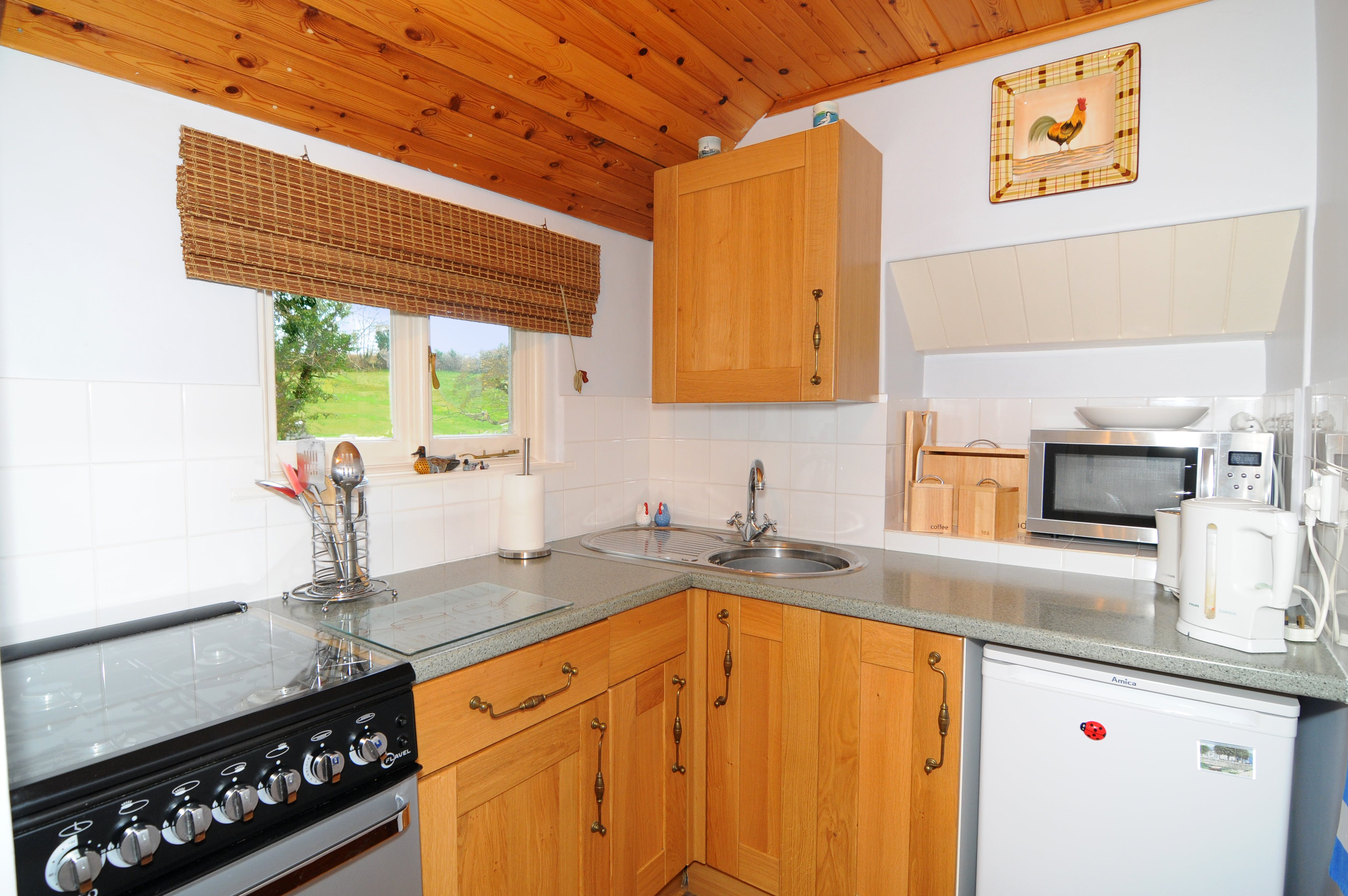 Kitchen with views to rear
