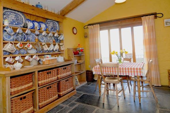 Welsh dresser in sunny kitchen/diner