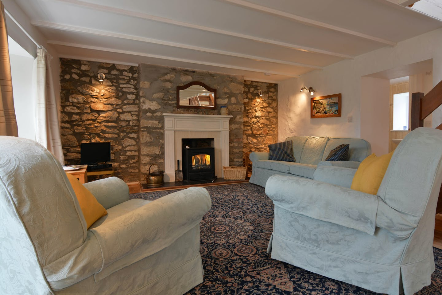 Tegfan Traditional Welsh Cottage Near Beach Near Newport Pembrokeshire Sleeps 6 1 Dog